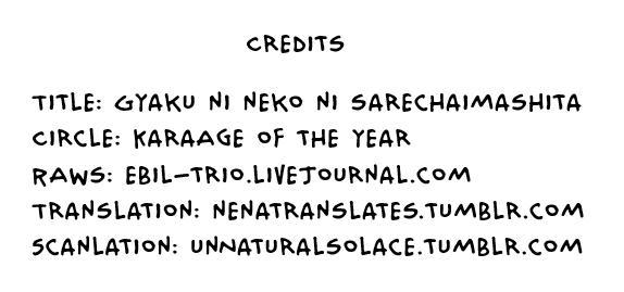 Gyaku ni Neko ni Sarechaimashita. 21