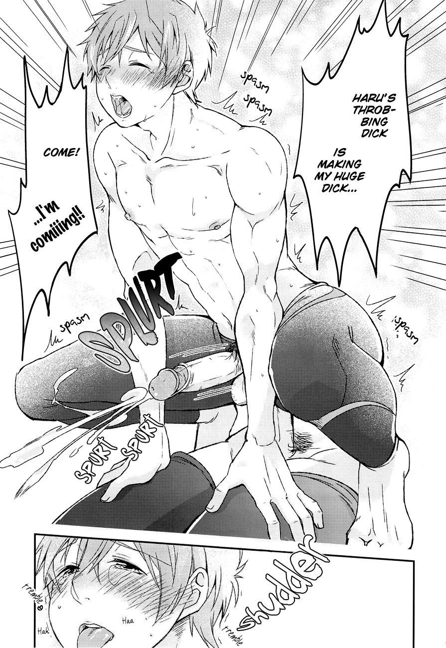 (Renai Jiyuugata! entry3) [Ane Ichigo (Asya)] Himitsu no Houkago ~ Haru to Issho ni Back no Renshuu ~ | The After- School Secret (Free!) [English] [Baka Dumb Aho Scans] [Decensored] 13
