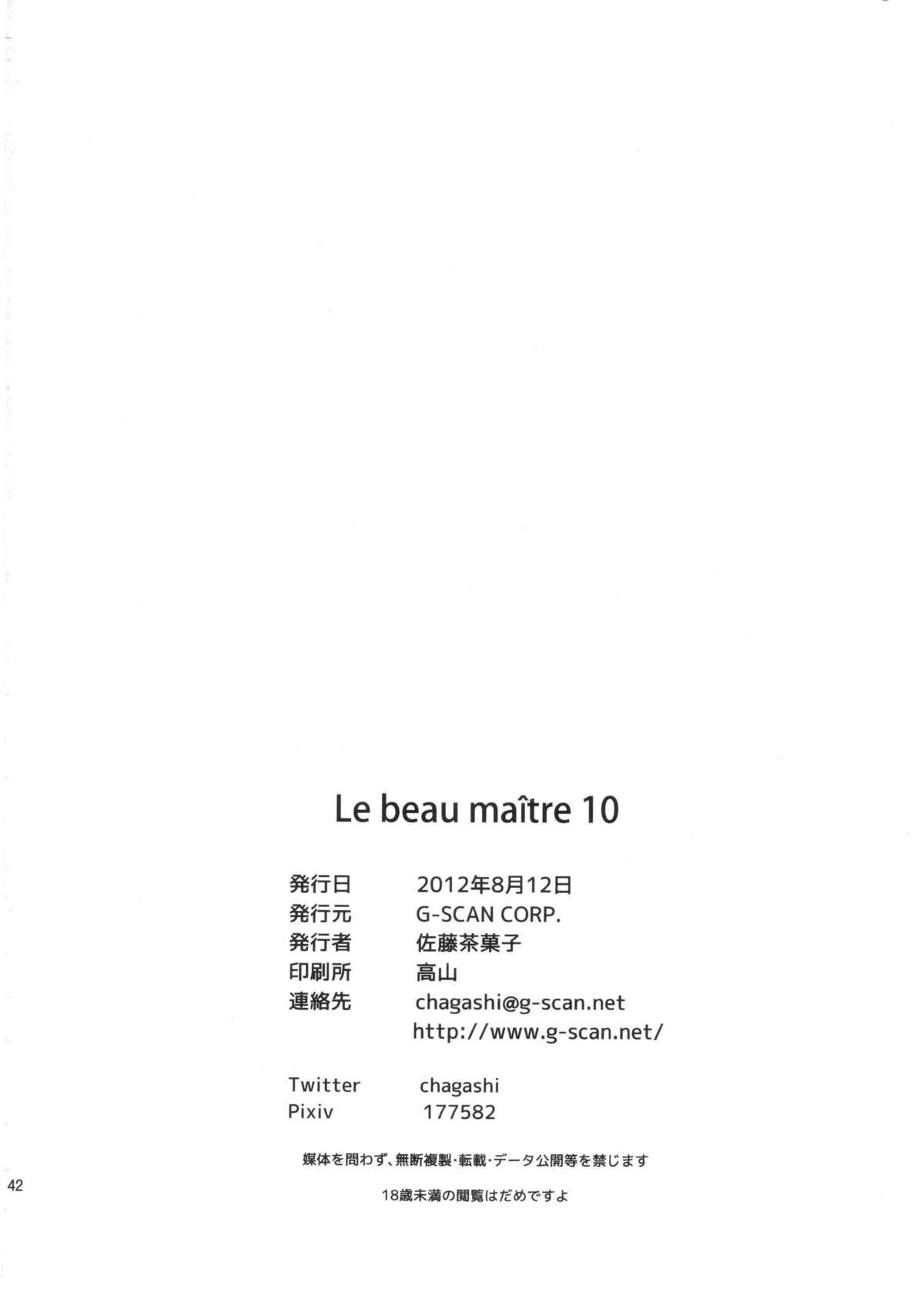 Le beau maitre 10 40