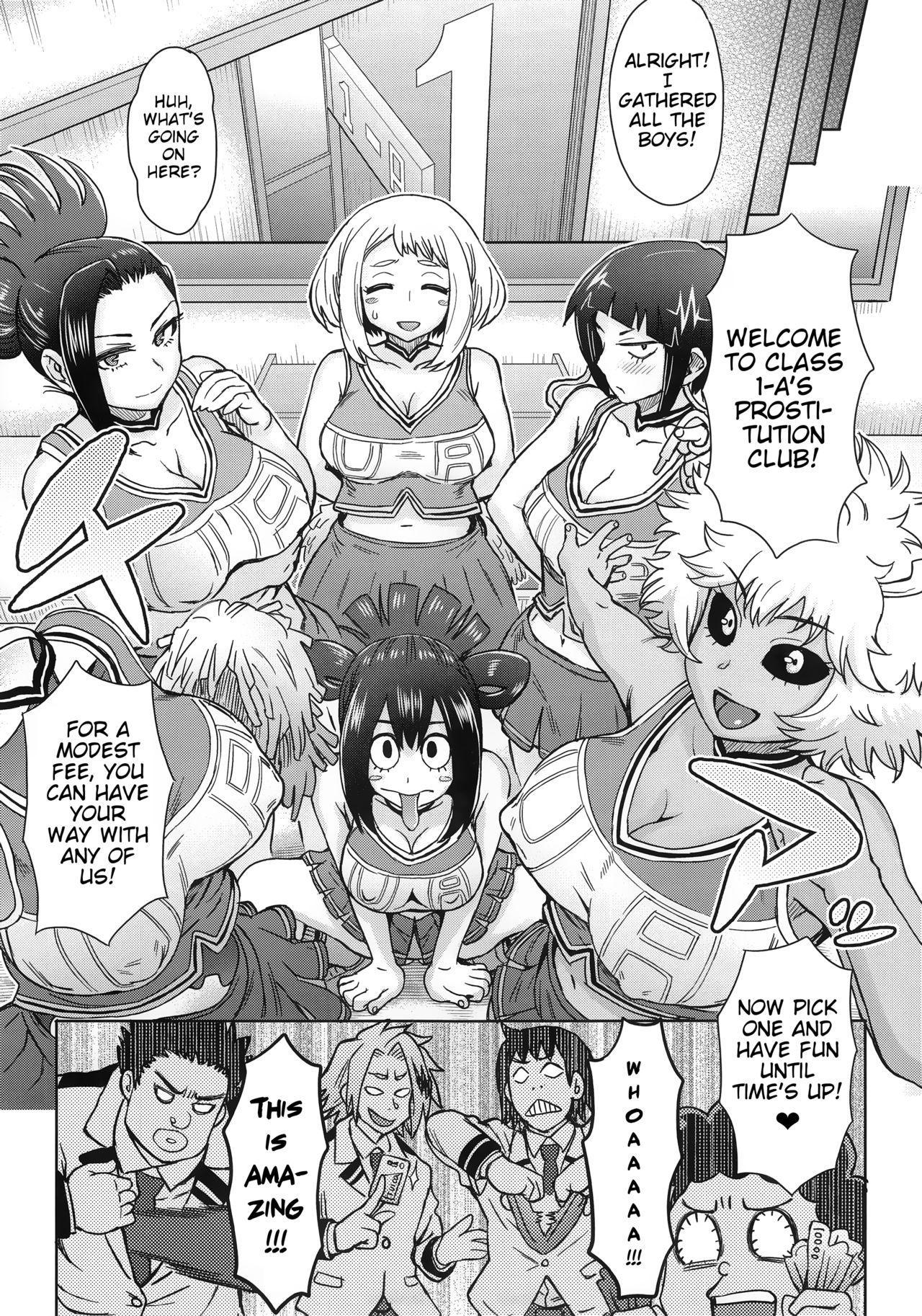 (C90) [Eight Beat (Itou Eight)] Uraraka Ura Fuuzoku | Uraraka's Behind-the-Scenes Prostitution (Boku no Hero Academia) [English] [Glittering Translations] 10