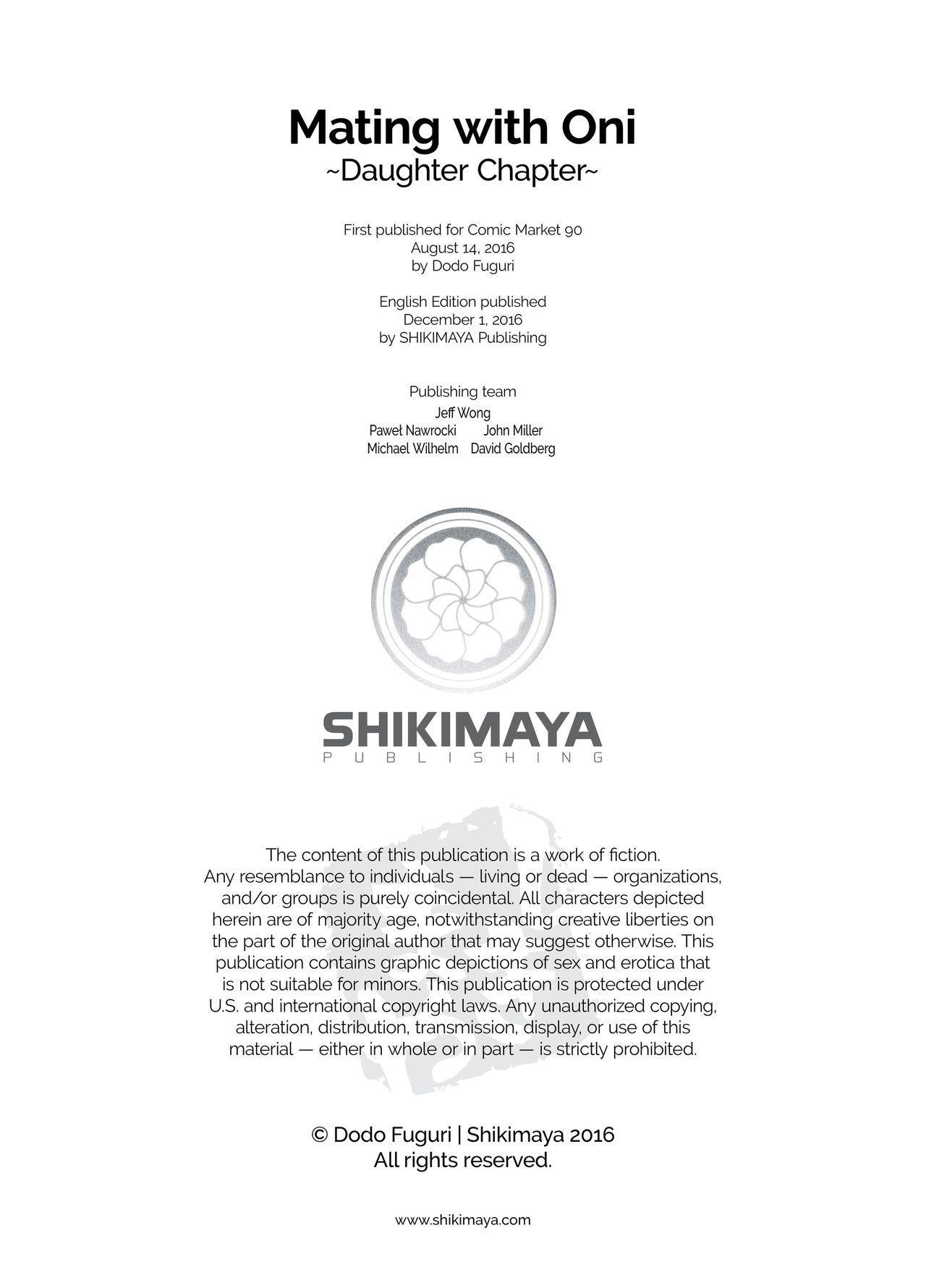 (C90) [Dodo Fuguri (Shindou)] Oni no Oyako wa Hito no Osu to Kozukuri ga Shitai ~Musume Hen~ | Mating with Oni ~Daughter Chapter~ [English] 25