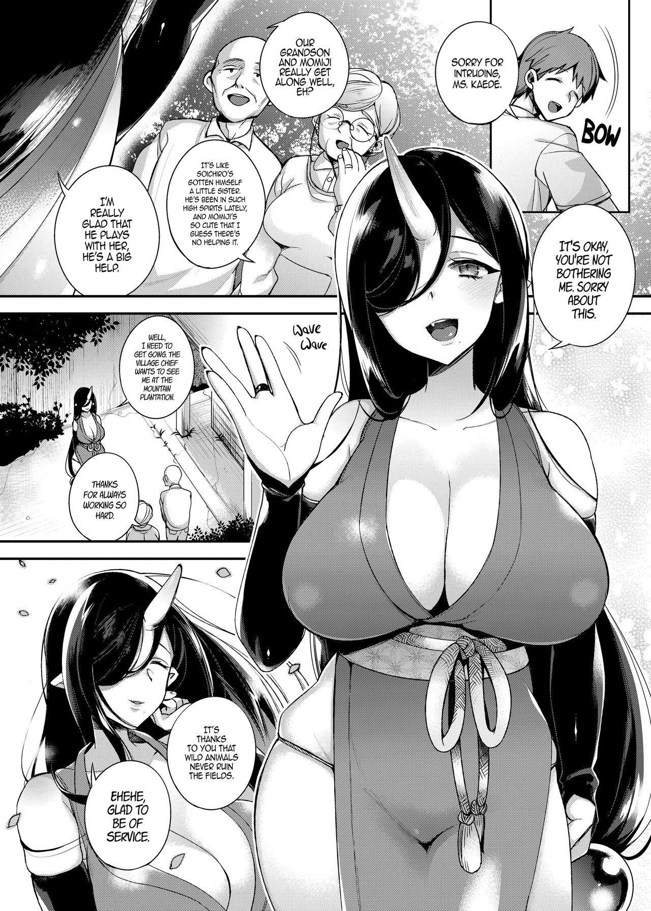 (C90) [Dodo Fuguri (Shindou)] Oni no Oyako wa Hito no Osu to Kozukuri ga Shitai ~Musume Hen~ | Mating with Oni ~Daughter Chapter~ [English] 4