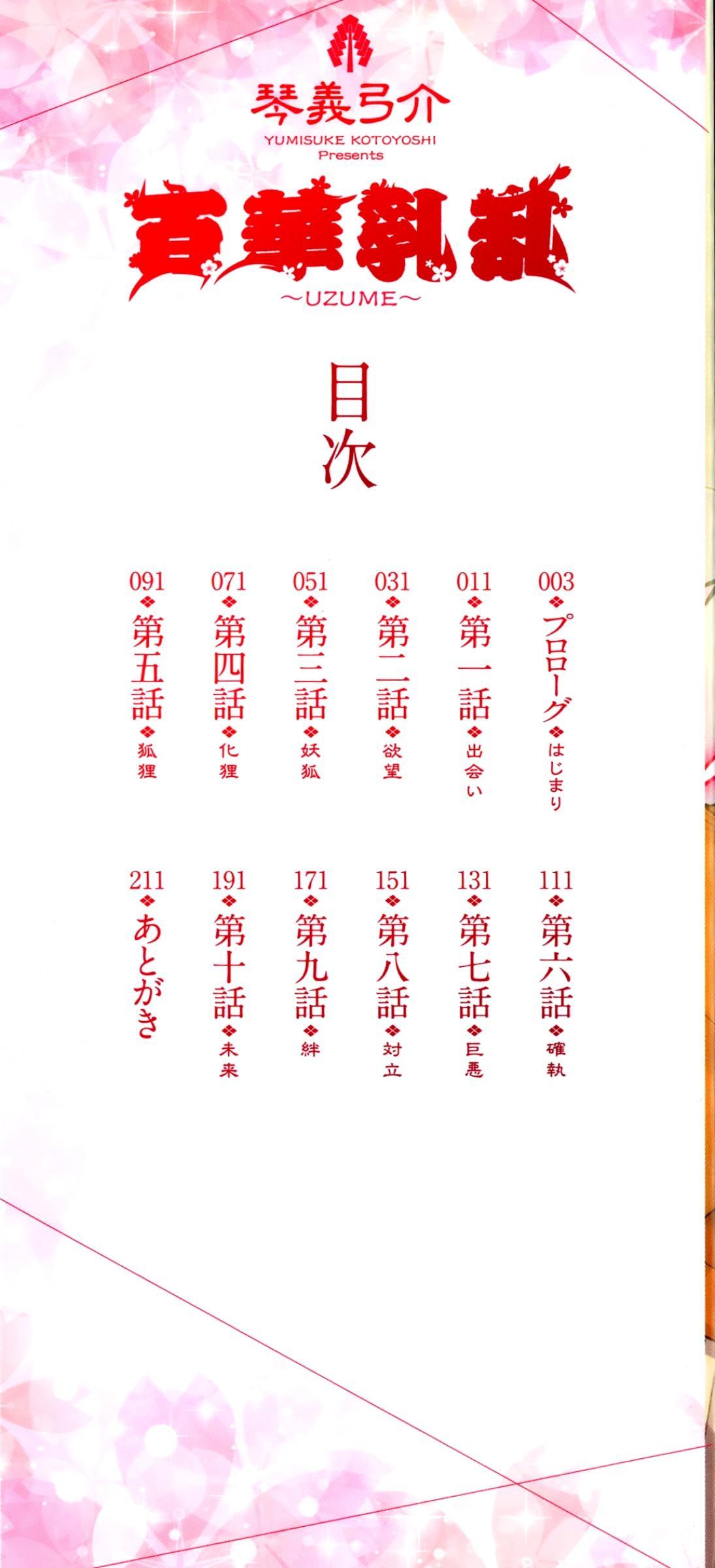 [Kotoyoshi Yumisuke] Hyakka Nyuuran ~UZUME~ | Hundred Blossoms Raging Boobs ~UZUME~ [English] 3