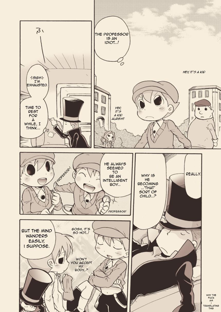 (C74) [M Kichibeya (Uchida Junta)] Luke to Meisou suru Otona (Professor Layton) full version [English] 9