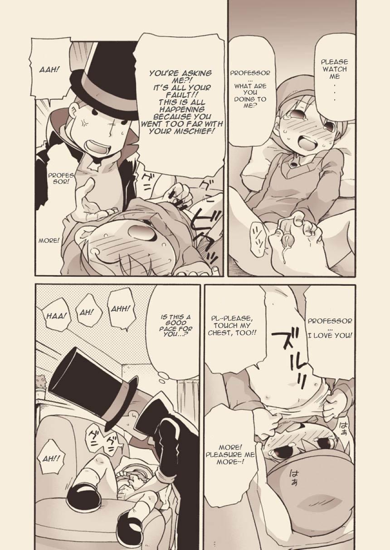 (C74) [M Kichibeya (Uchida Junta)] Luke to Meisou suru Otona (Professor Layton) full version [English] 18