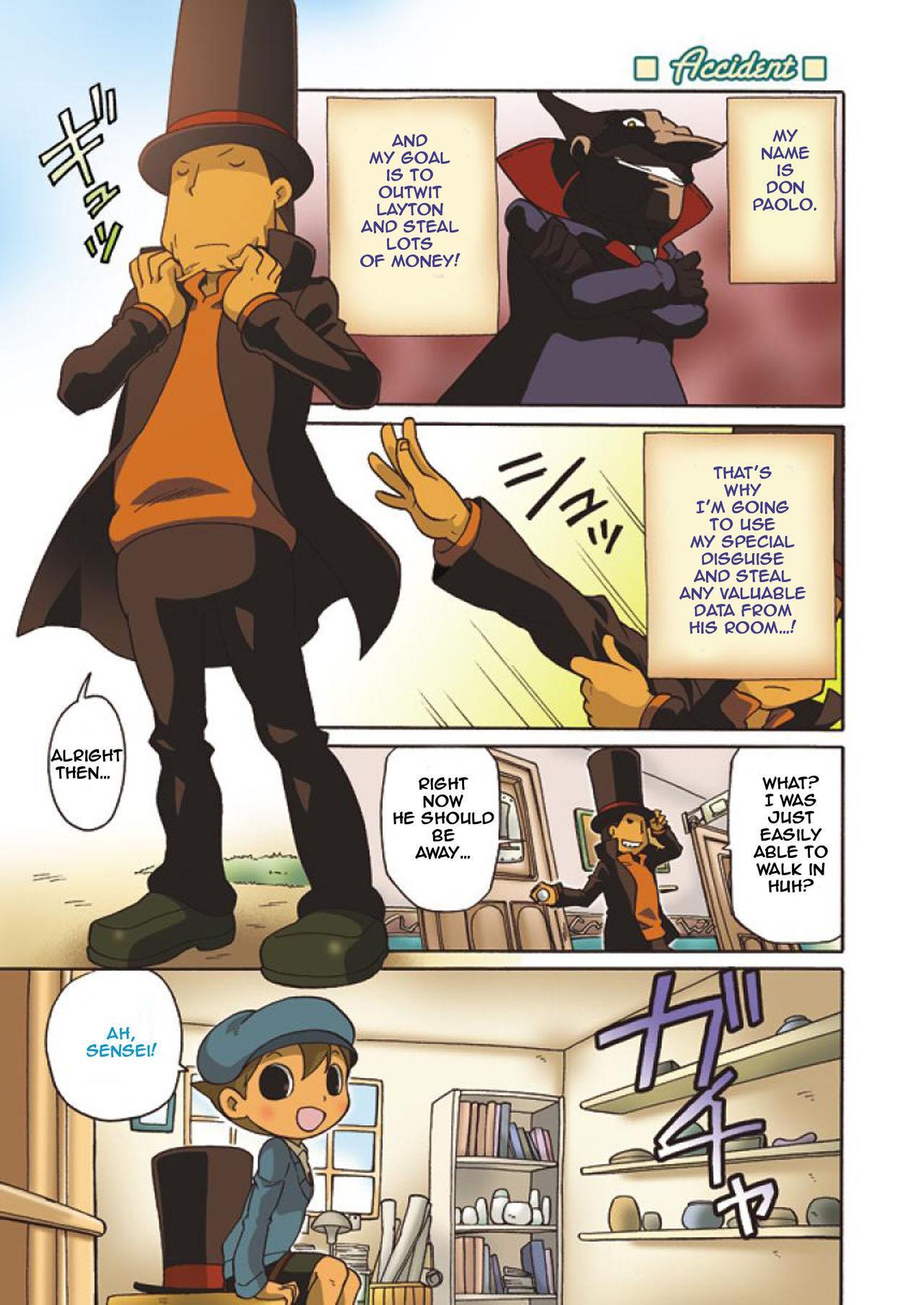 (C74) [M Kichibeya (Uchida Junta)] Luke to Meisou suru Otona (Professor Layton) full version [English] 53