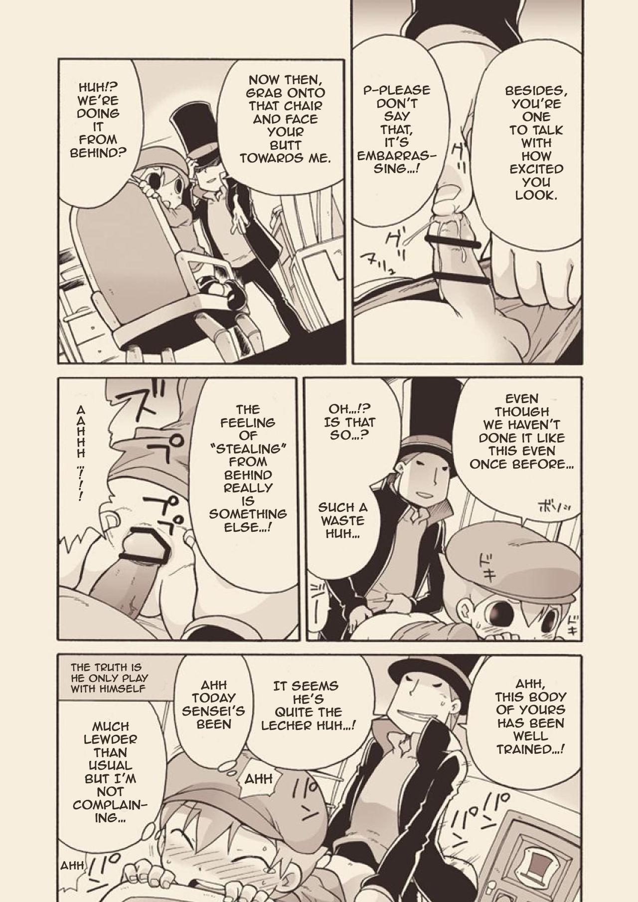 (C74) [M Kichibeya (Uchida Junta)] Luke to Meisou suru Otona (Professor Layton) full version [English] 56