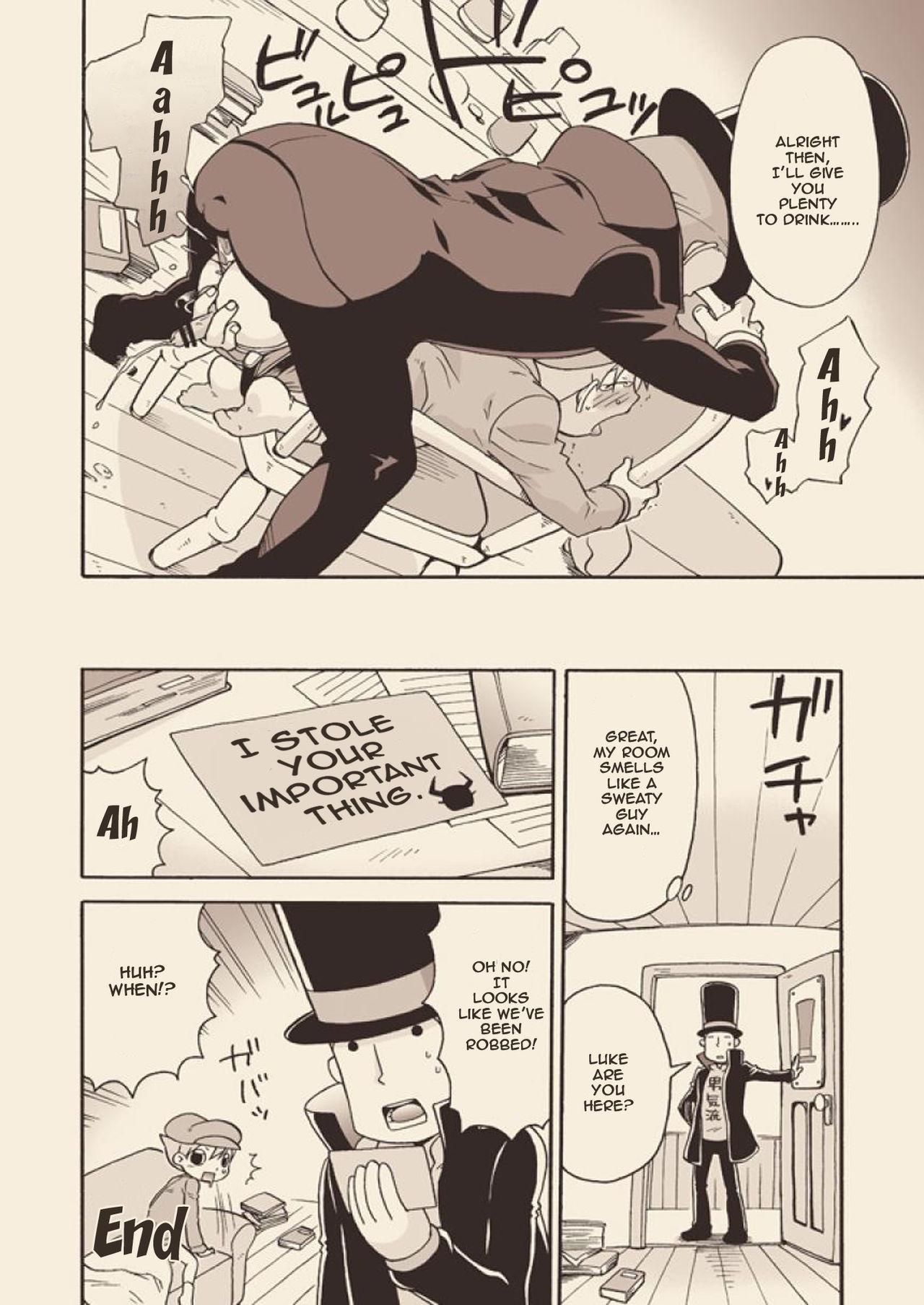 (C74) [M Kichibeya (Uchida Junta)] Luke to Meisou suru Otona (Professor Layton) full version [English] 59