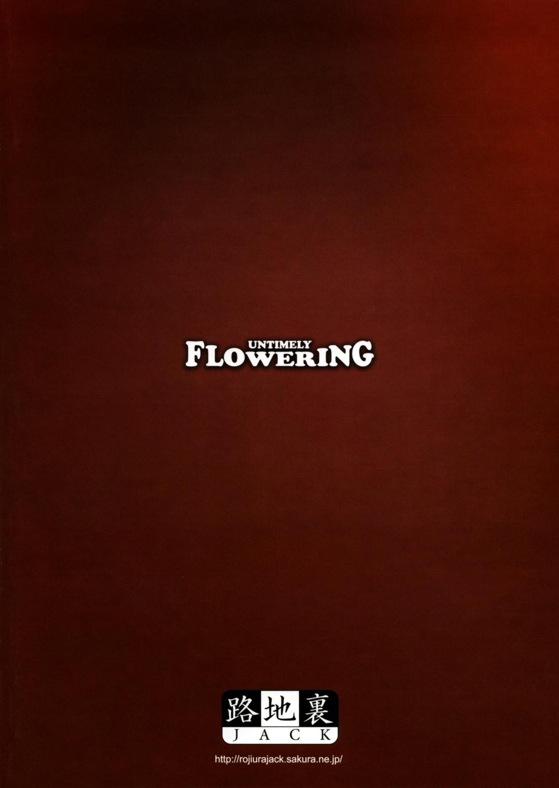 Untimely Flowering 21