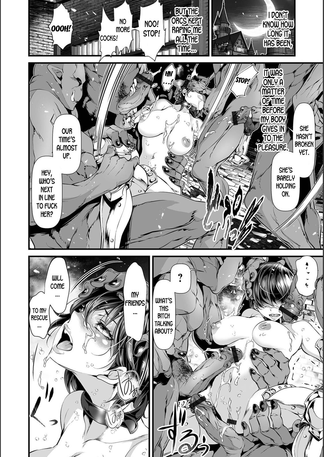 Nyotaika Eiyuu Orc Chinpo Haiboku Kitan | The Mysterious Story of a Genderbent Hero being Defeated by Orc Cocks 9
