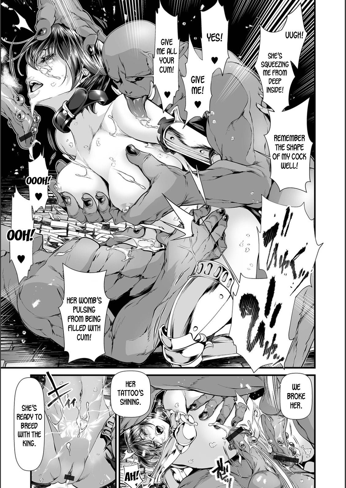 Nyotaika Eiyuu Orc Chinpo Haiboku Kitan | The Mysterious Story of a Genderbent Hero being Defeated by Orc Cocks 12