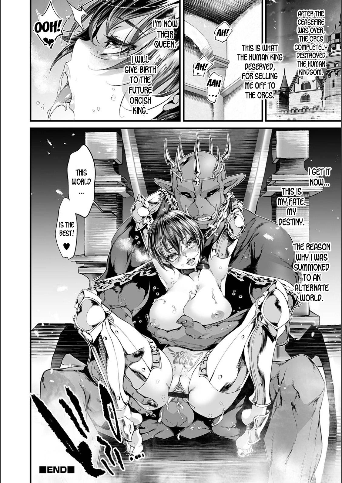 Nyotaika Eiyuu Orc Chinpo Haiboku Kitan | The Mysterious Story of a Genderbent Hero being Defeated by Orc Cocks 13