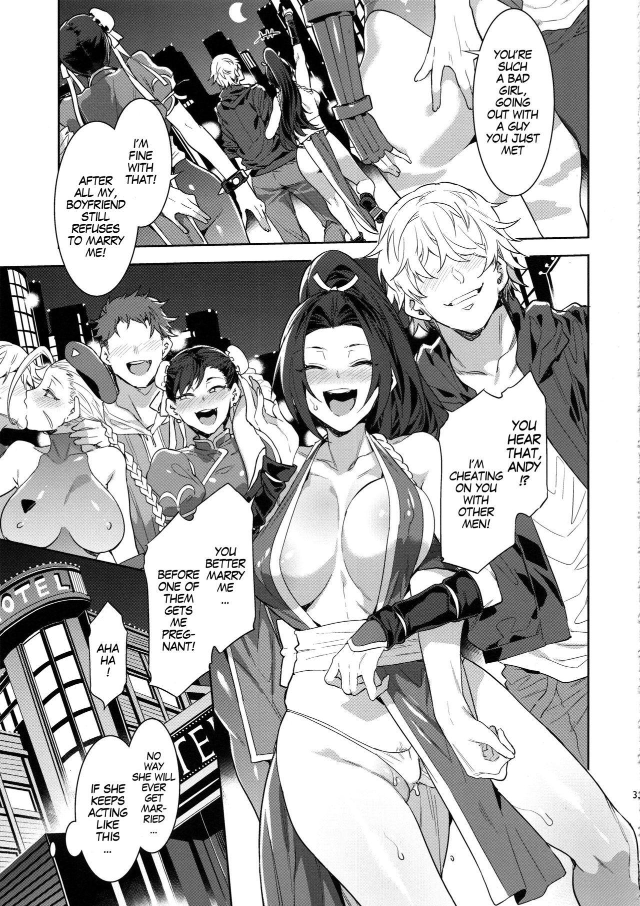 Kakutou Musume Yarimoku Goukon | Casual Sex Party With Fighting Game Gals 31