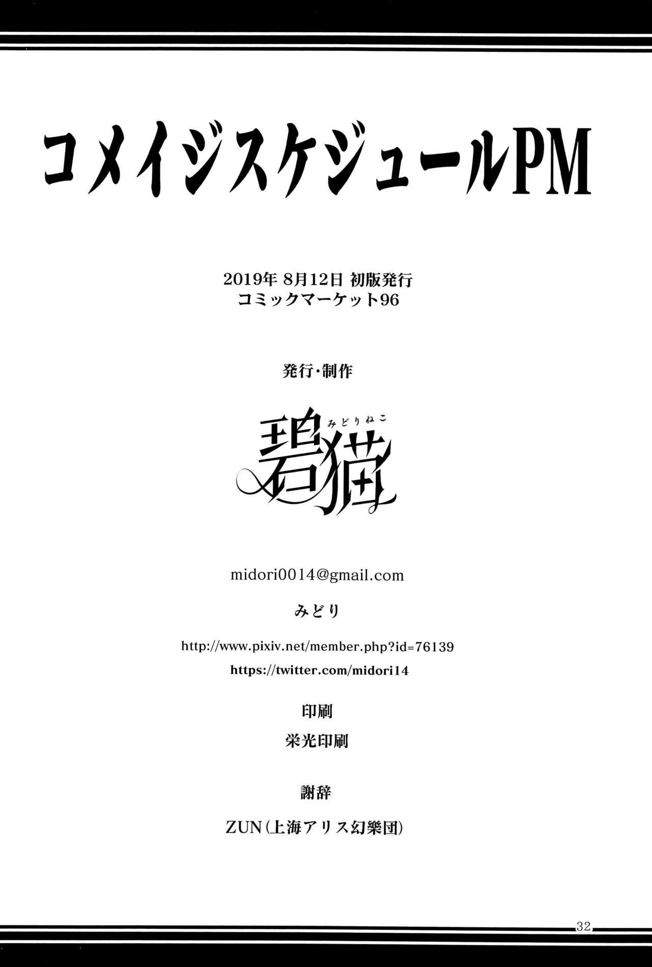 Komeiji Schedule PM 32