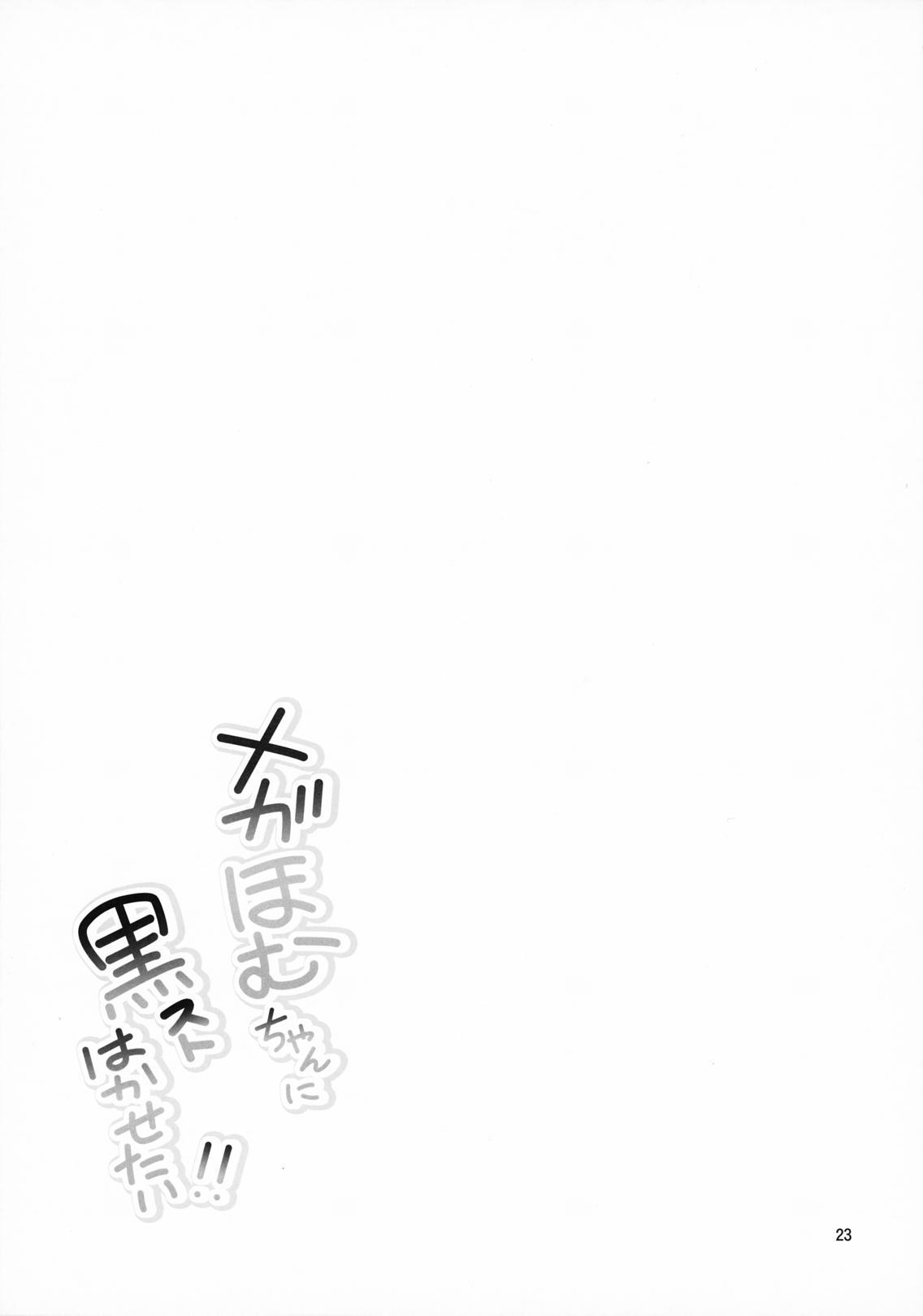 Megahomu-chan ni Kurosto Hakasetai!! 23