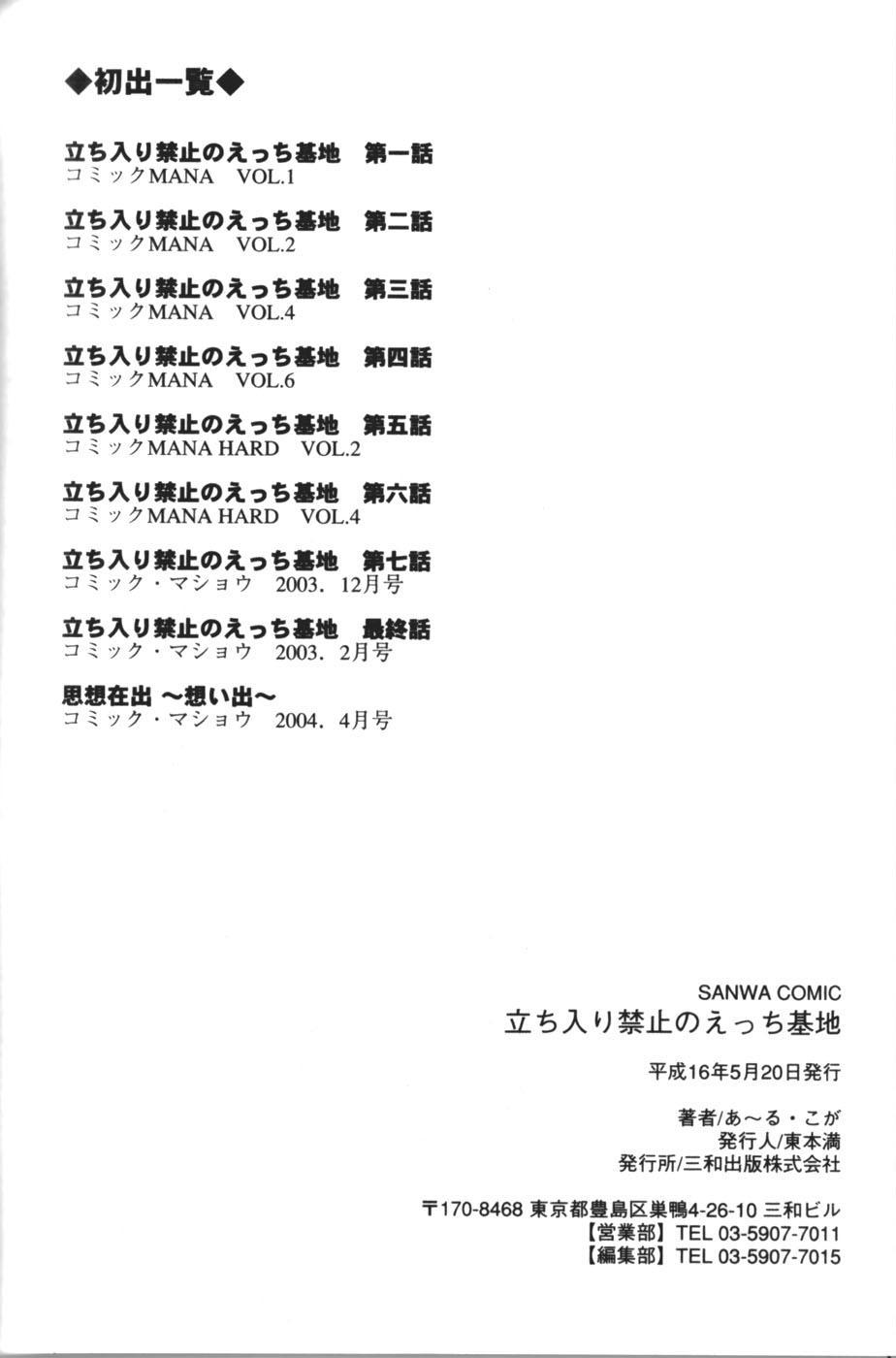 Tachiirikinshi no Ecchi Kichi 183